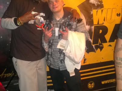 Hook Off Release Party New York City Scott Isbell with Wu-Tang Clan member Cappadonna